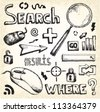 Doodle search - stock photo