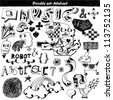 doodle set - abstract elements - stock photo
