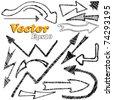 doodle set - arrows. vector illustration. - stock vector
