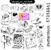 doodle set : mail - stock