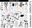 Doodle set - school - stock vector