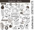 Doodle sports. Vector illustration. - stock photo