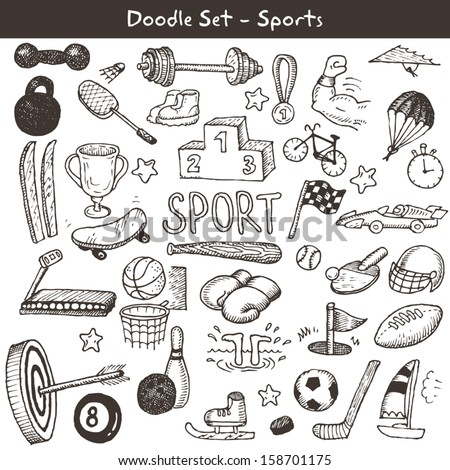 Doodle sports. Vector illustration. - stock vector