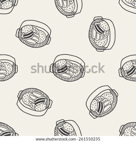 Doodle Stew seamless pattern background