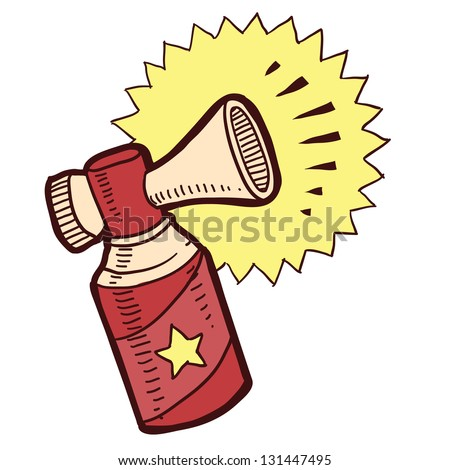 Doodle style air horn sketch in vector format. - stock vector