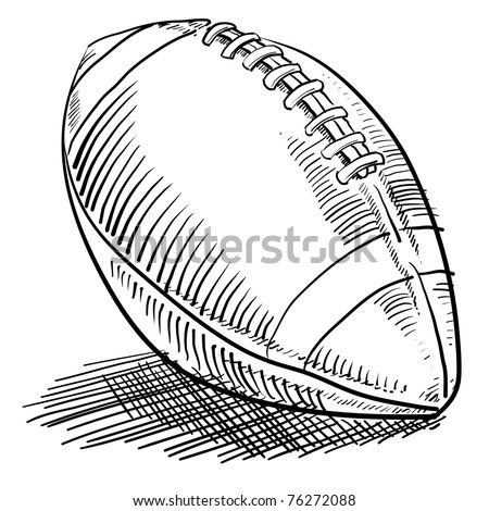 Doodle style american football sports illustration in vector format - stock vector