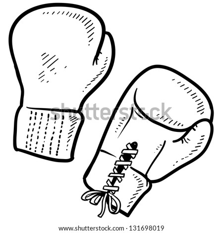 Doodle style boxing illustration in vector format. - stock vector