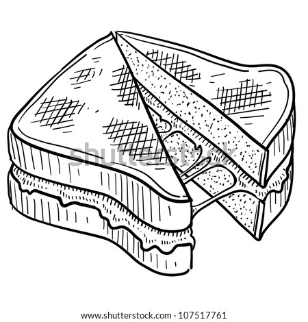 soup and sandwiches coloring pages - photo#20