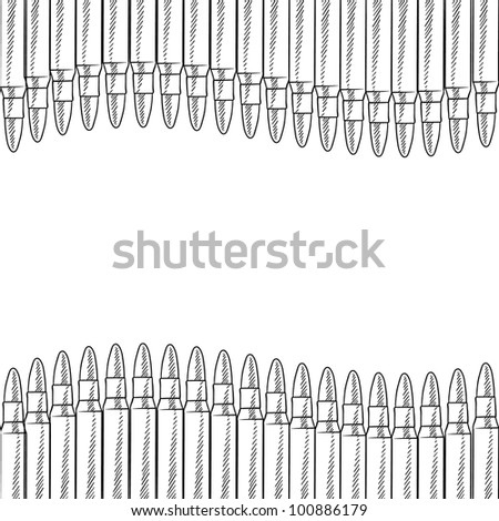 Doodle style seamless bullet border illustration in vector format - stock vector