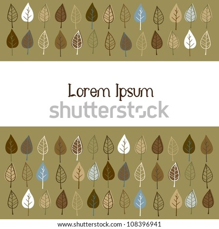 Doodle stylized leaves background. - stock vector