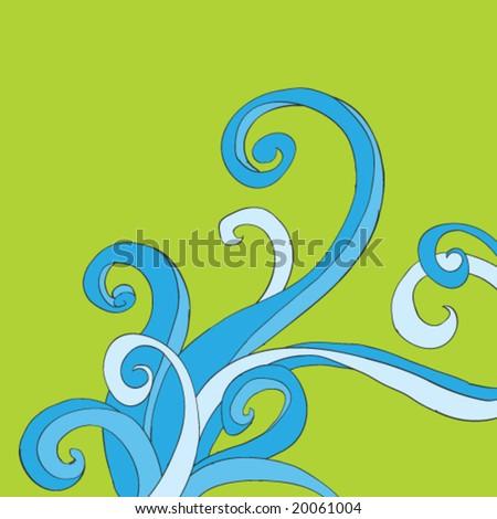 Doodle Swirls - stock vector