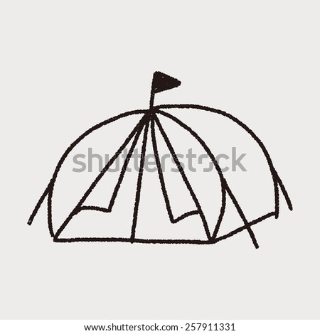 doodle Tent  sc 1 st  Shutterstock & Person Dome Tent Isolated On White Stock Photo 638780353 ...