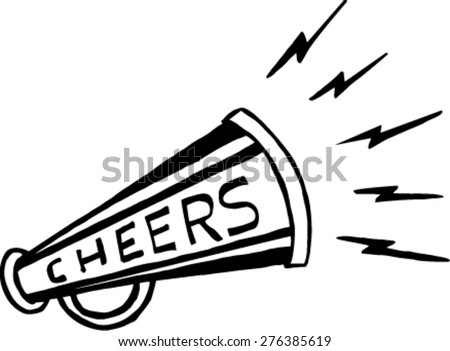 doodle vector bullhorn symbol  - stock vector