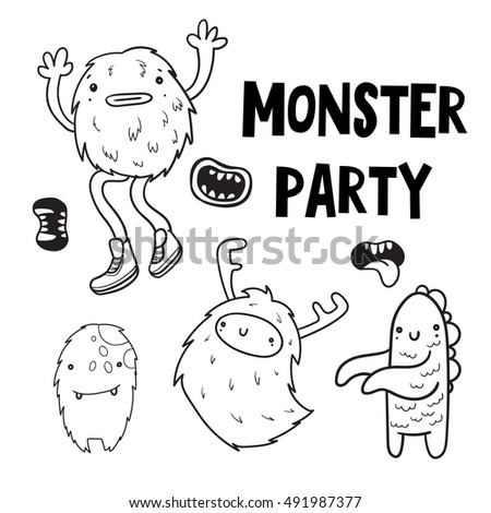 82 Doodle Monsters Coloring Book
