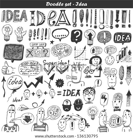 Doodle vector set - - stock vector