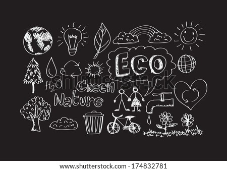 doodles  ECO vector set