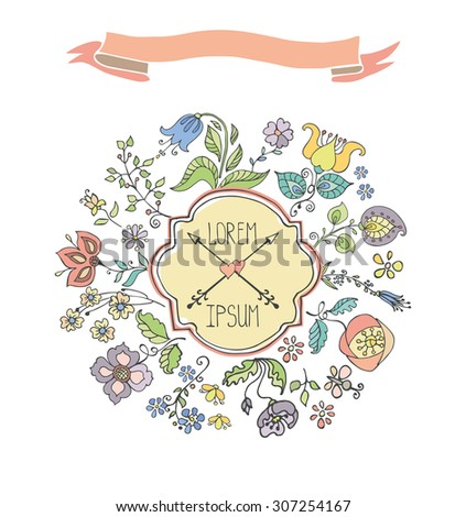 Doodles flowers hand drawing greeting cards stock vector 307254167 doodles flowers hand drawing greeting cards easterbirthdaywedding invitation pattern m4hsunfo Choice Image