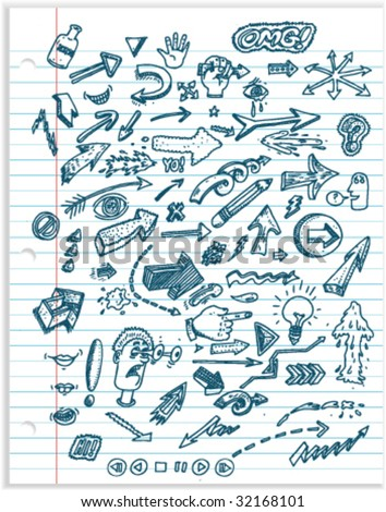 Doodles - Vector Illustrations - stock vector