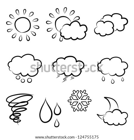 doodles weather icon set