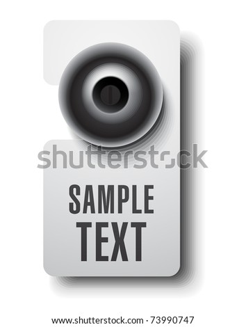 Door hanger - stock vector