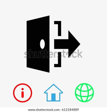 door icon  sc 1 st  Shutterstock & Door Icon Professional Pixel Perfect Icons Stock Vector 349989653 ... pezcame.com