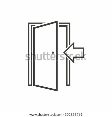 Door icon on white background. Vector illustration.  sc 1 st  Shutterstock & Door Icon Stock Images Royalty-Free Images u0026 Vectors | Shutterstock pezcame.com