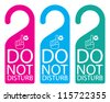 Door knob or hanger sign - do not disturb - stock vector