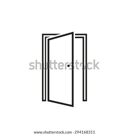 open house door stock images royalty free images vectors shutterstock. Black Bedroom Furniture Sets. Home Design Ideas