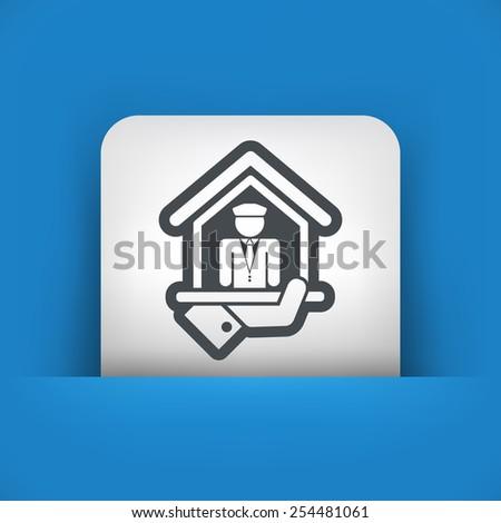 Doorman icon - stock vector