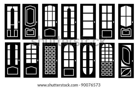 Doors - stock vector