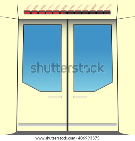 Doors of subway train. Vector illustration. EPS 10, opacity - stock vector