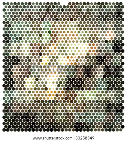 Dot Background - stock vector