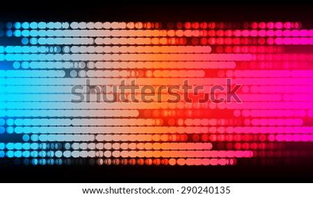 Dot background. Vector Illustration. dark blue orange pink lights Abstract Background. - stock vector