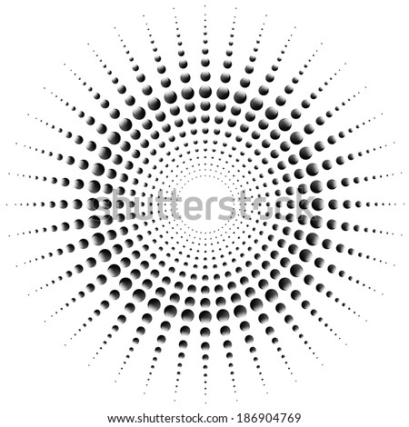 dot circle shaped abstract background vector - stock vector