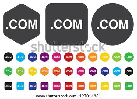dot com icon - stock vector