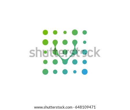 Dot Digital Letter V Icon Logo Stock Vector 648109471 Shutterstock