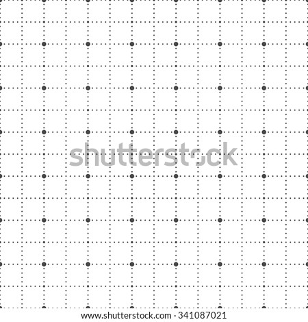 Dot grid paper seamless pattern, vector - stock vector