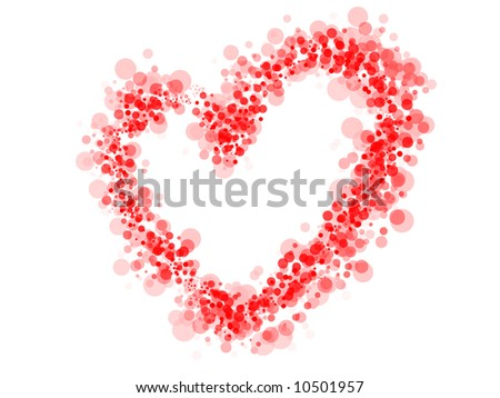 Dot Heart - stock vector