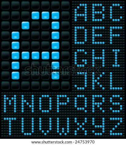 dot matrix display with alphabet