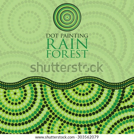 Dot painting invite/ greeting card in vector format. - stock vector