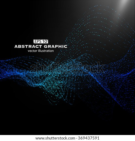 Dot pattern composed of mesh,Technological sense of abstract graphics - stock vector