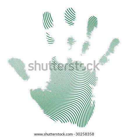 Dot Pattern hand - stock vector
