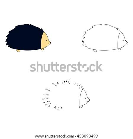 Dot Dot Educational Game Children Cartoon Stock Vector 417620518 ...