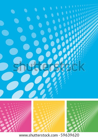 Doted vector background - stock vector