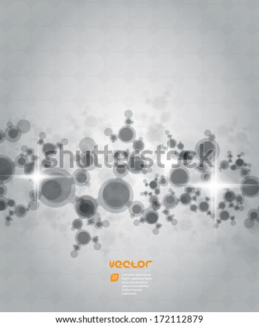 Dots Abstract Background - stock vector