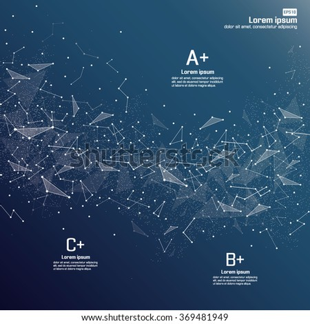 Dots and lines connected together - stock vector