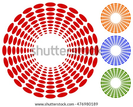 Dots, circles circular motif, element. Vector illustration.