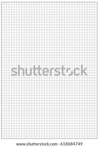 Inch Grid Printable Graph Paperblack Stock Vector