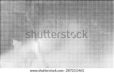 Dots . Grunge halftone dots vector texture background . Dotted Abstract Vector Texture . Distress Dirty Damaged Brush Overlay Texture . - stock vector