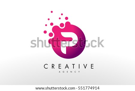 Dots letter p logo p letter stock vector 551774914 for W and p design